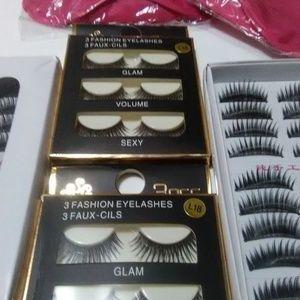 New 4 False Eyelashes Boxes 26 Pairs 3d Natural +